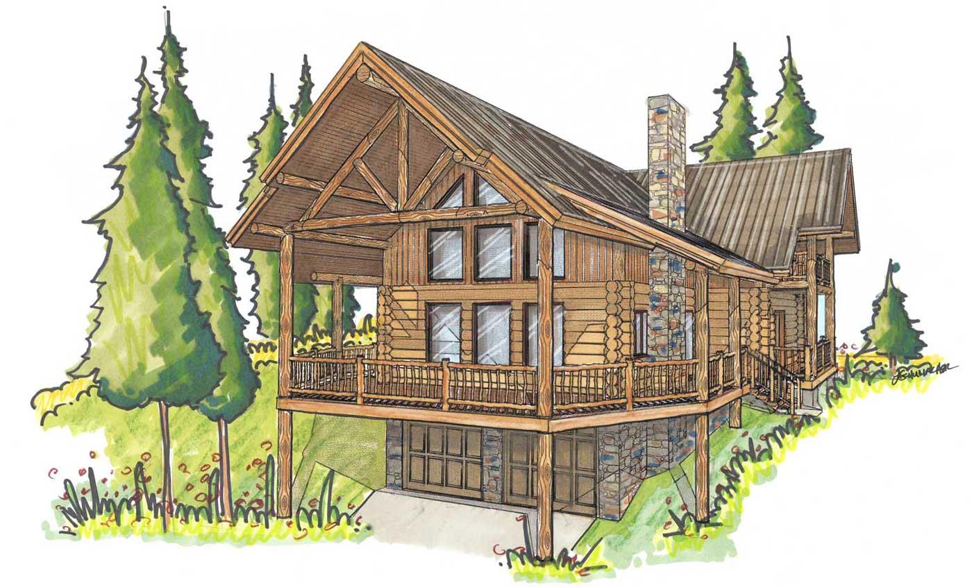 custom designed log home kit Bohannon
