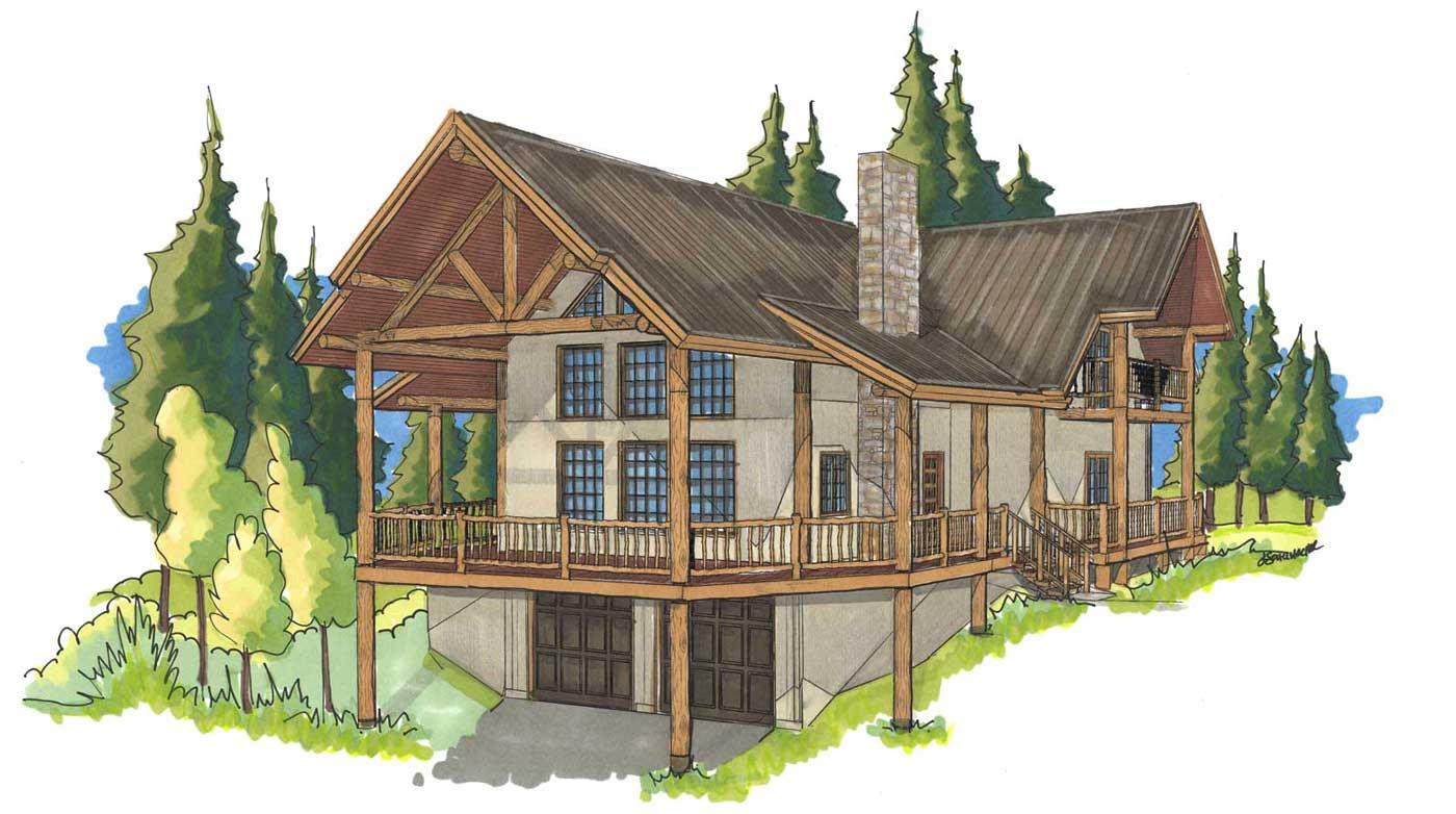 Durango custom designed log home kit