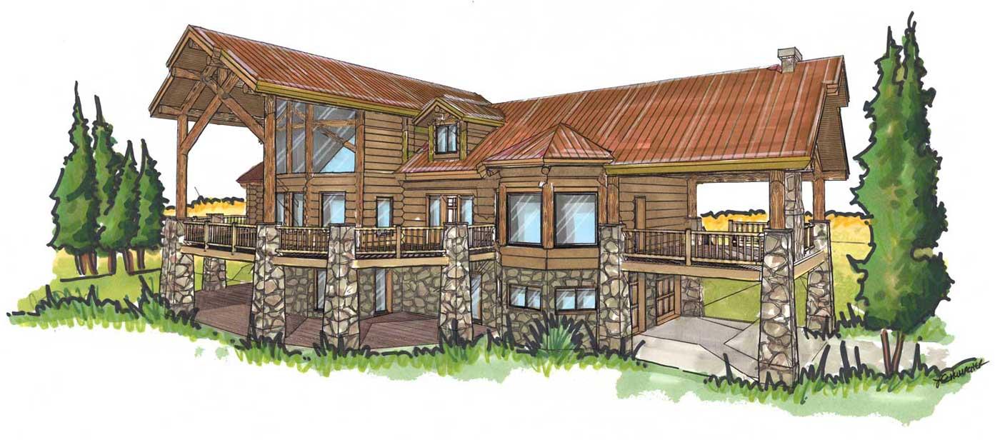 Telluride custom design lot home