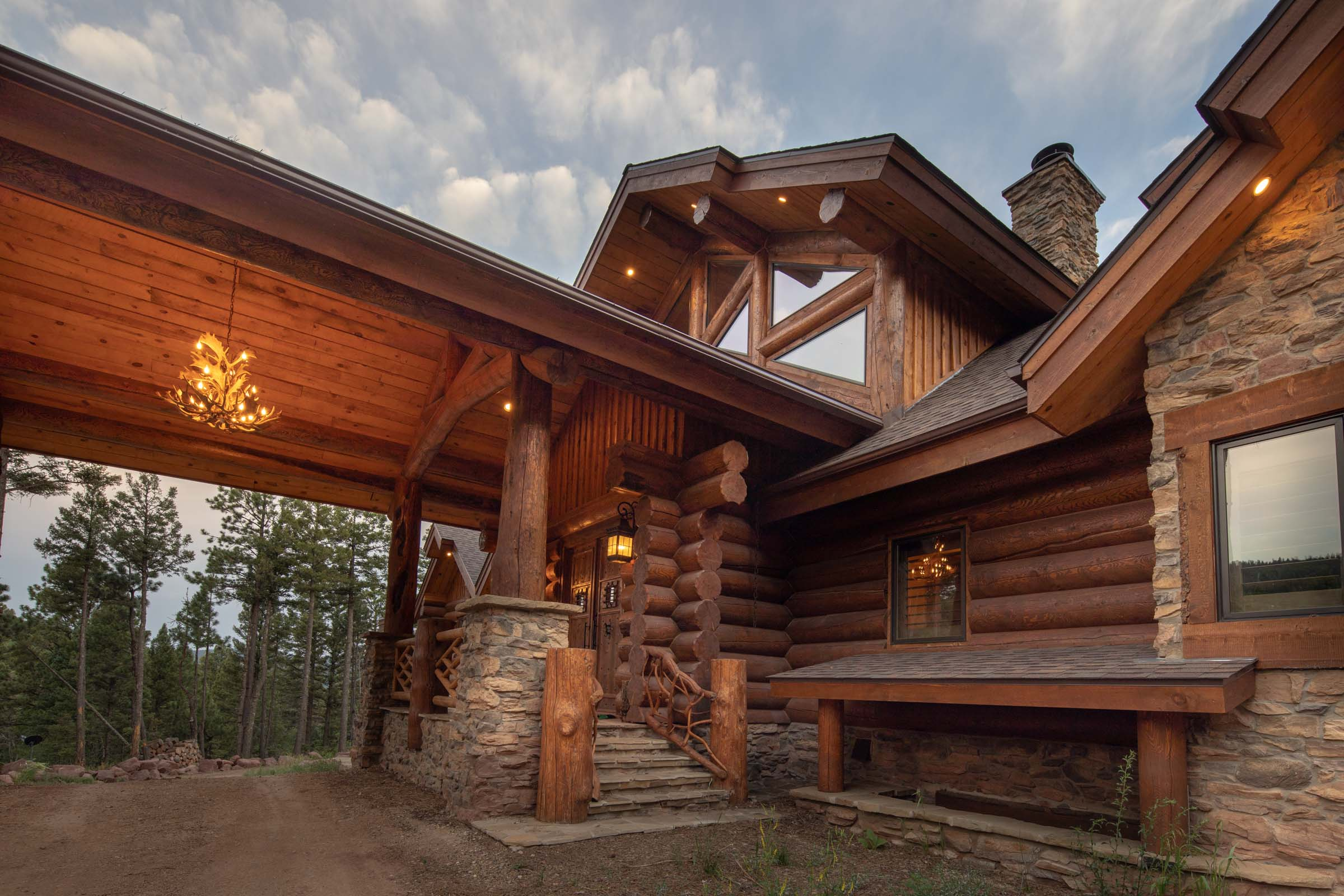 Luxury log cabin angel fire new mexico-10