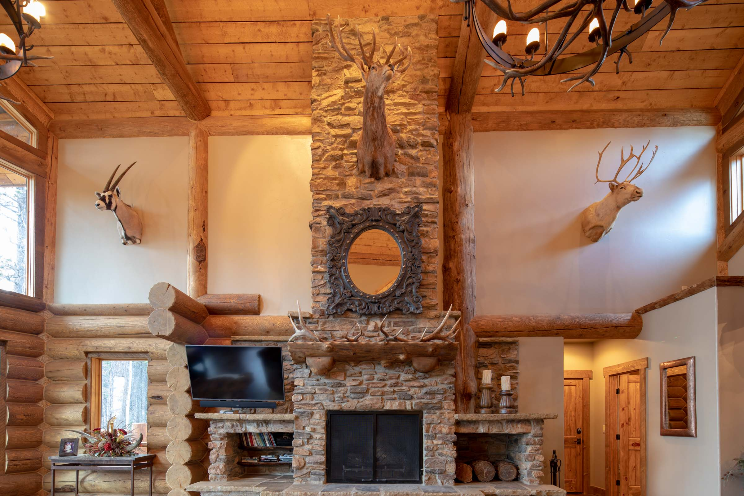 Luxury log cabin angel fire new mexico-15