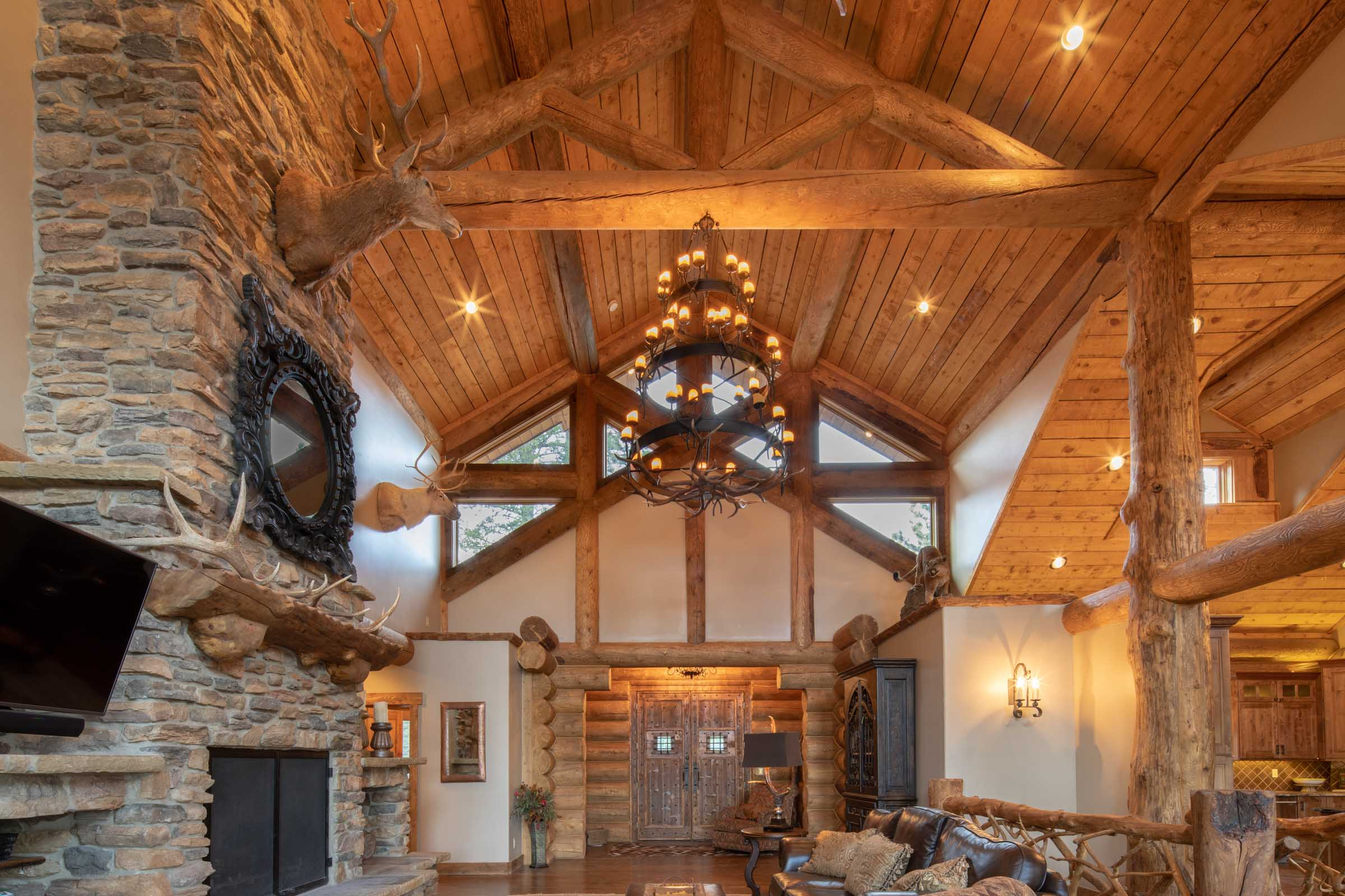 Luxury log cabin angel fire new mexico-18