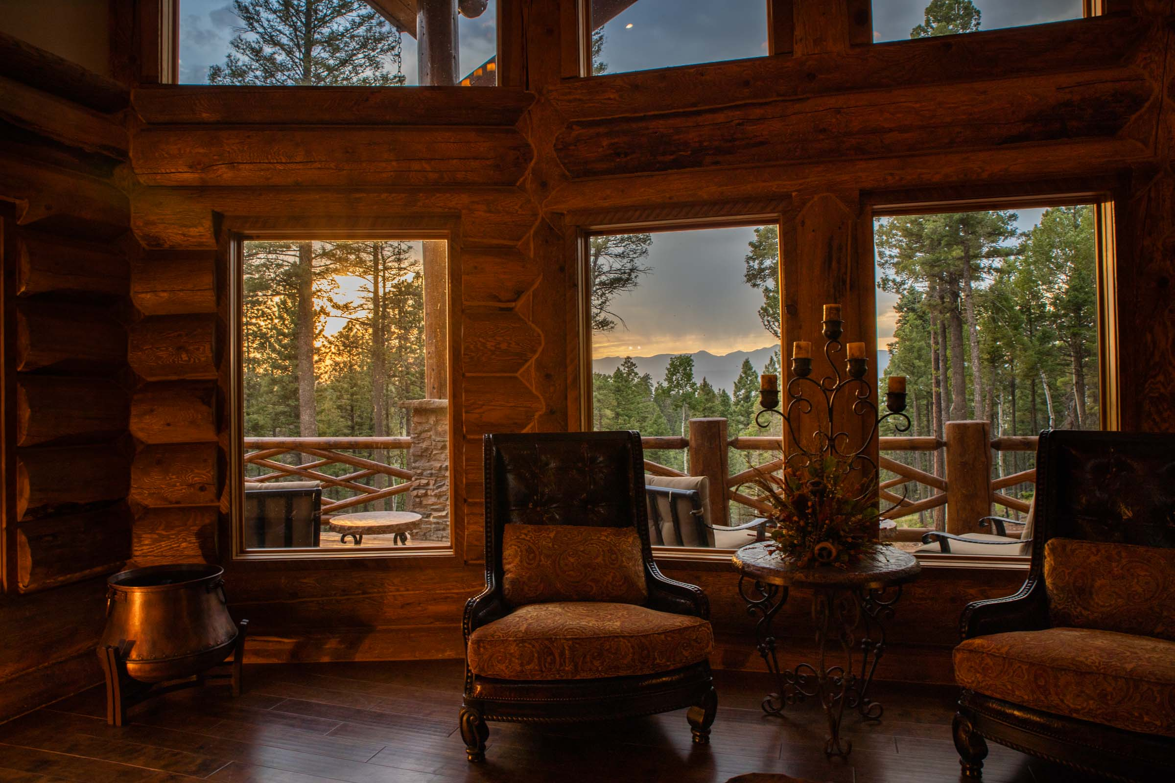 Luxury log cabin angel fire new mexico-2