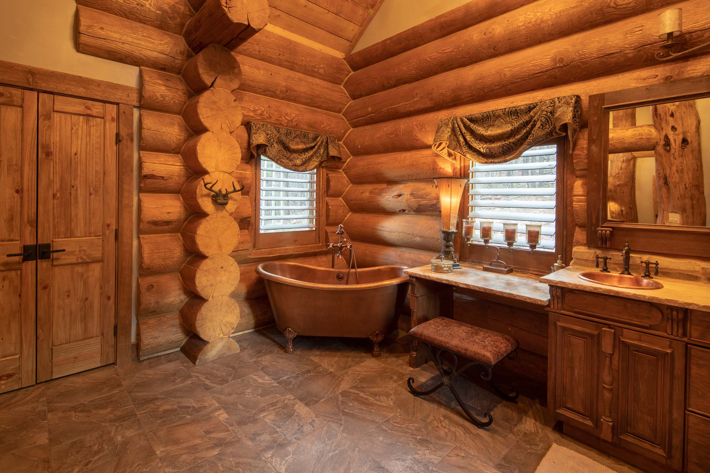Luxury log cabin angel fire new mexico-22