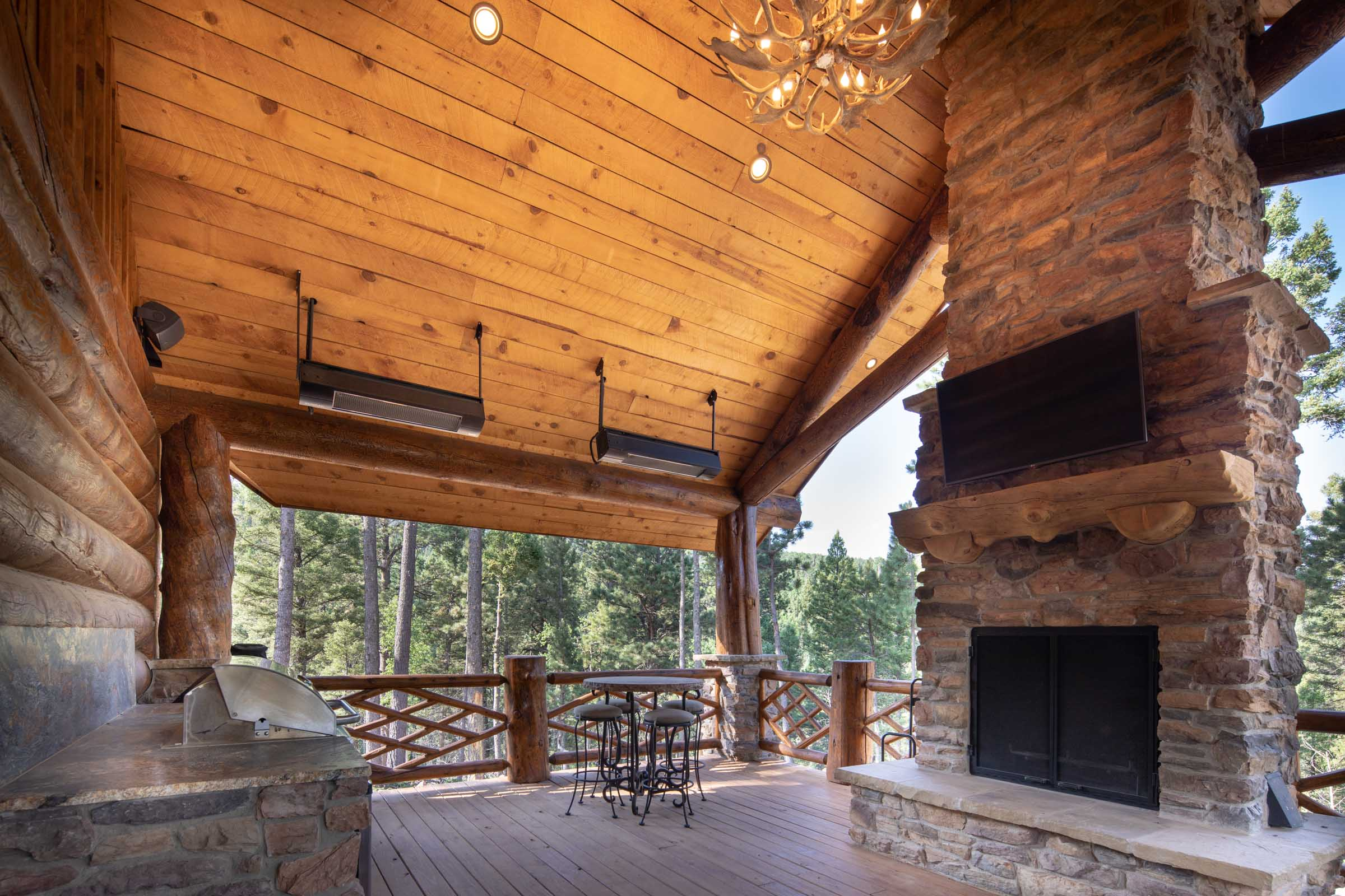 Luxury log cabin angel fire new mexico-27