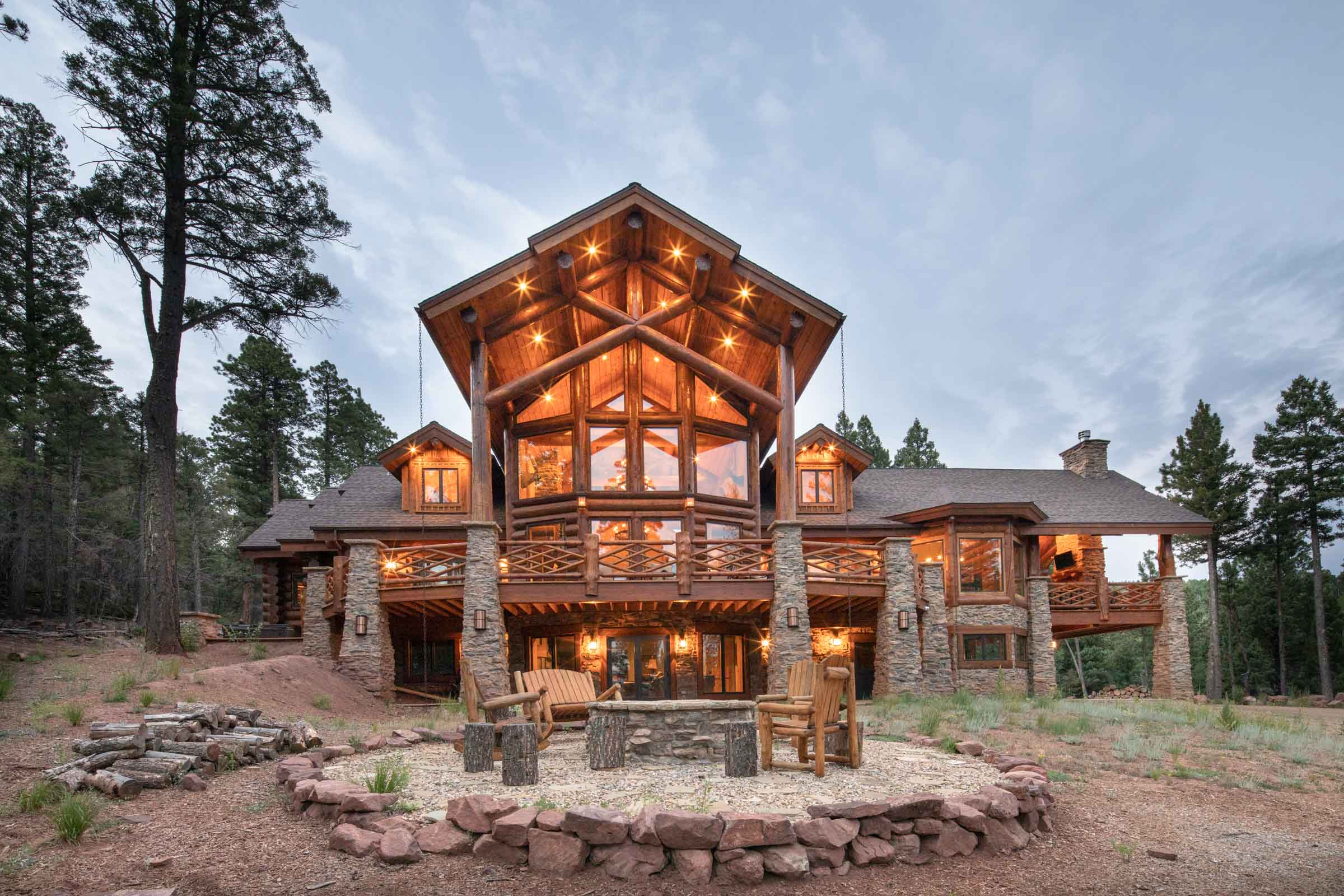 Luxury log cabin angel fire new mexico-4