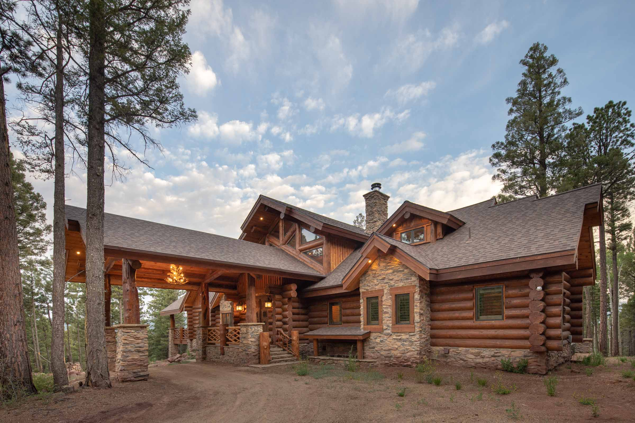 Luxury log cabin angel fire new mexico-9