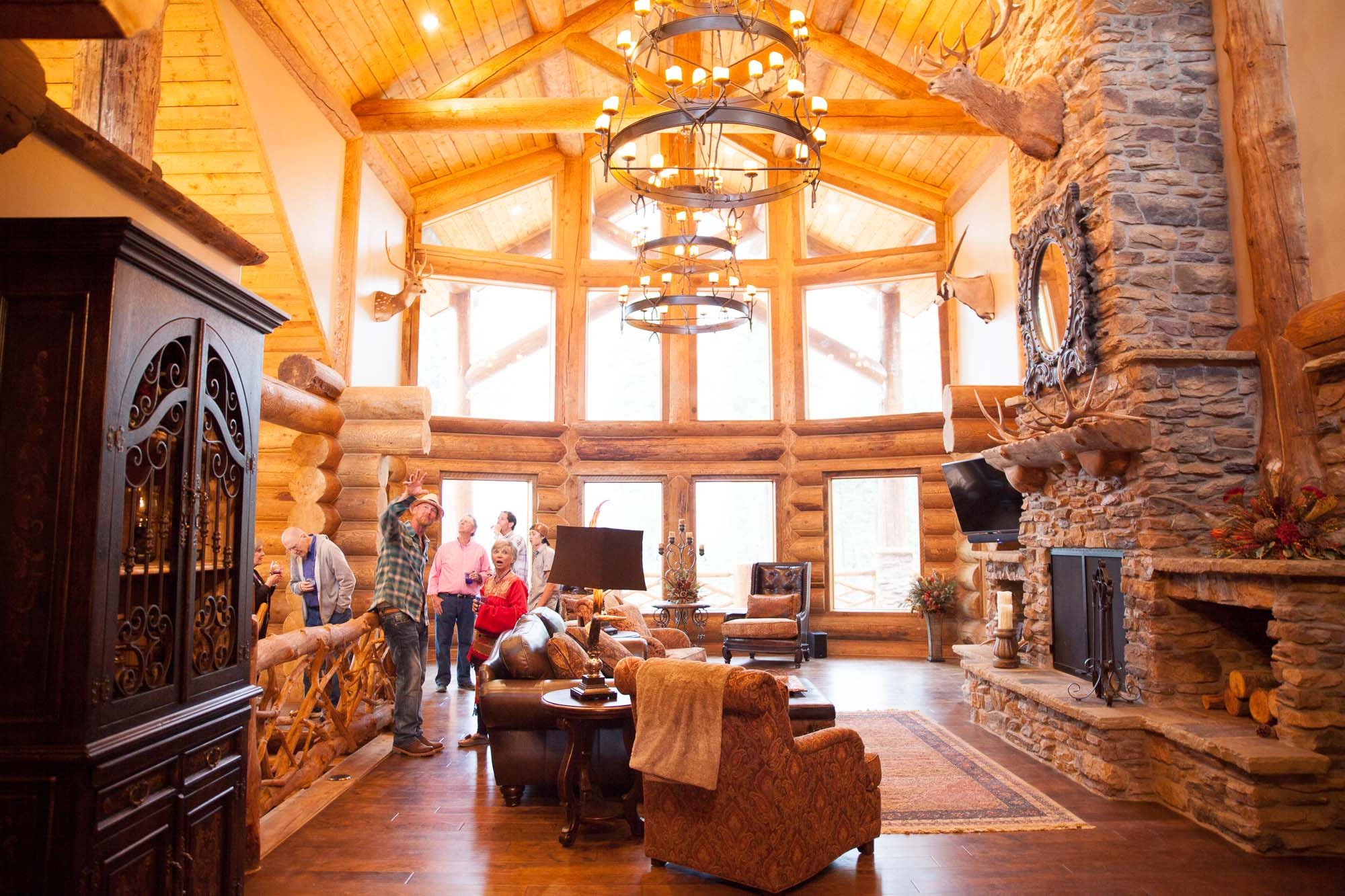 luxury log home kits colorado