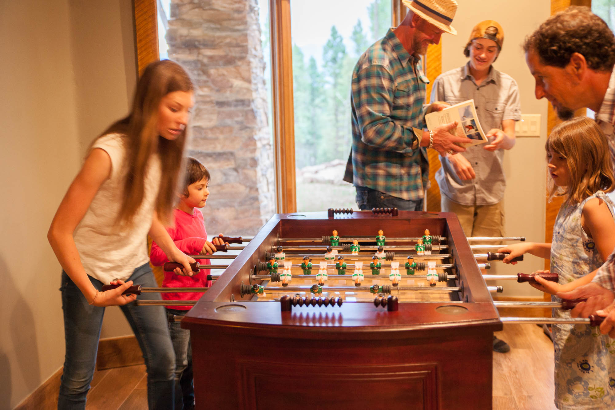 log cabin mountain games fooseball
