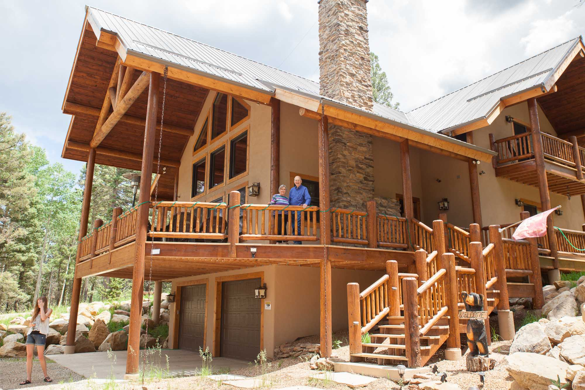 log home to retire in, angel fire new mexico