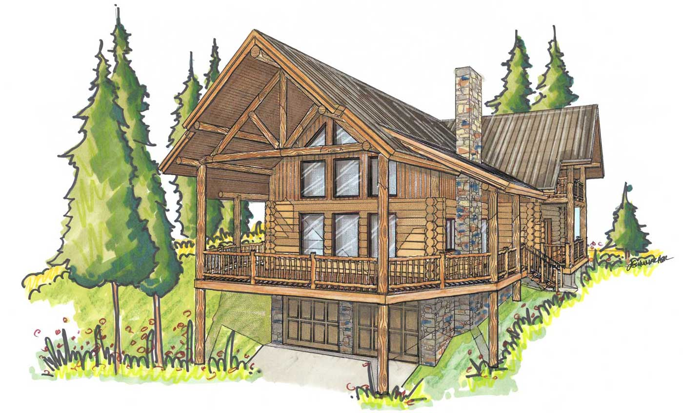 custom designed log home kit Bohannon