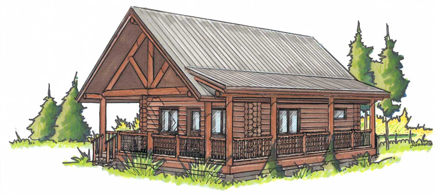 custom designed log home kit Casita