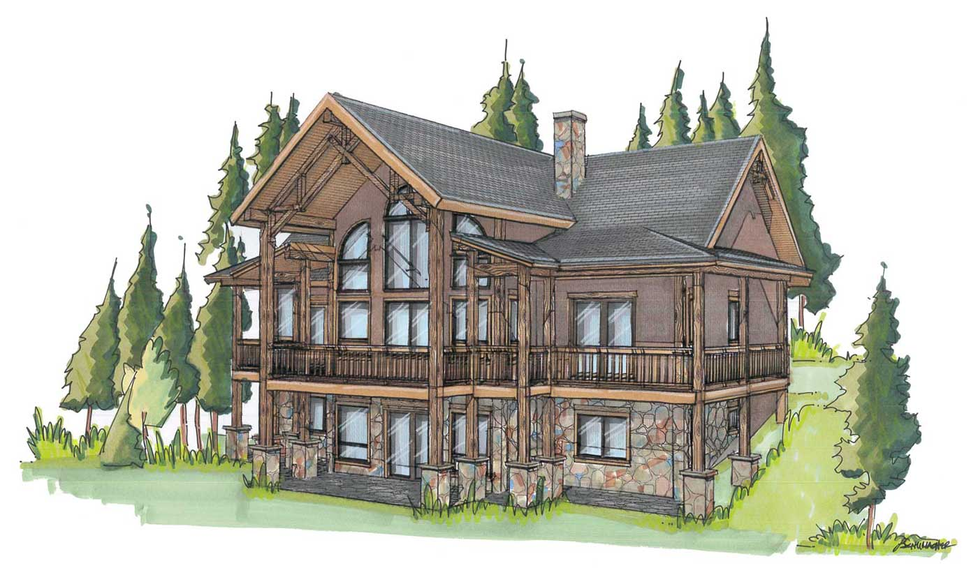 custom designed log home kit Columbine