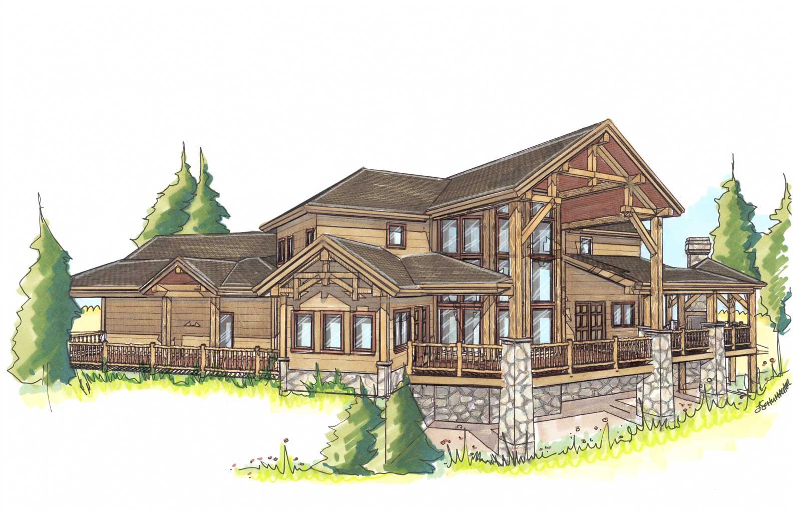 custom designed log cabin prairie song