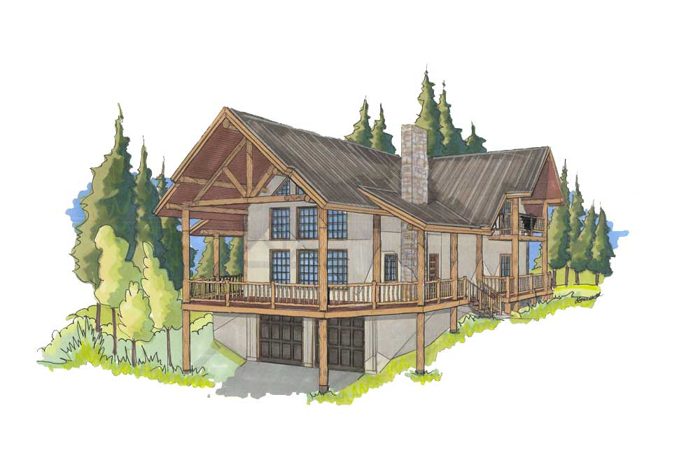 customized log home designs