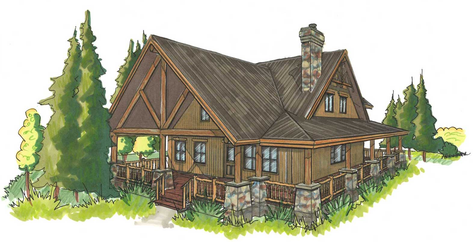 log home & cabin kit The Pleasant Valley