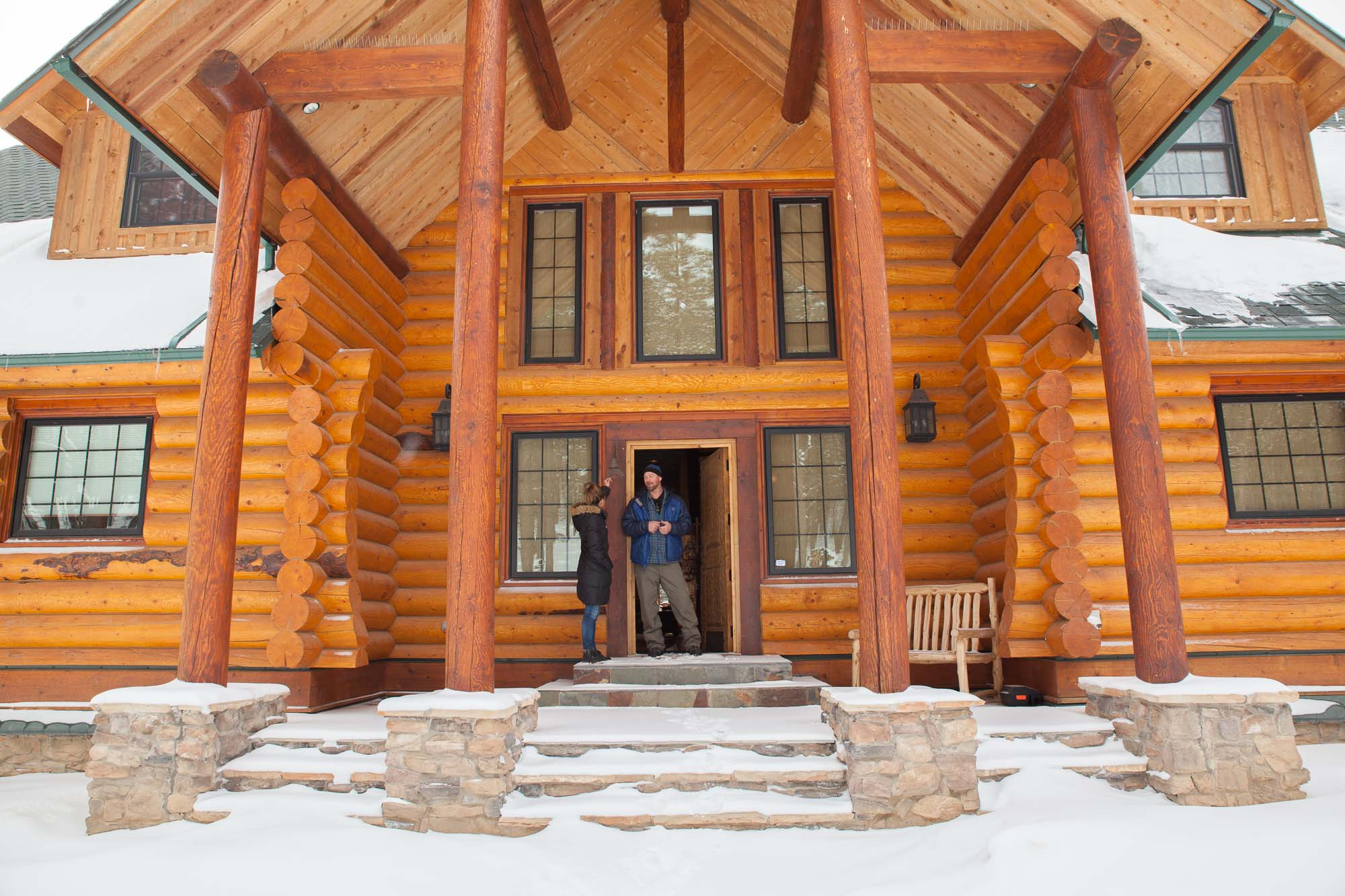 Custom Designed Log Home Cabin Kit The Grand Hacienda