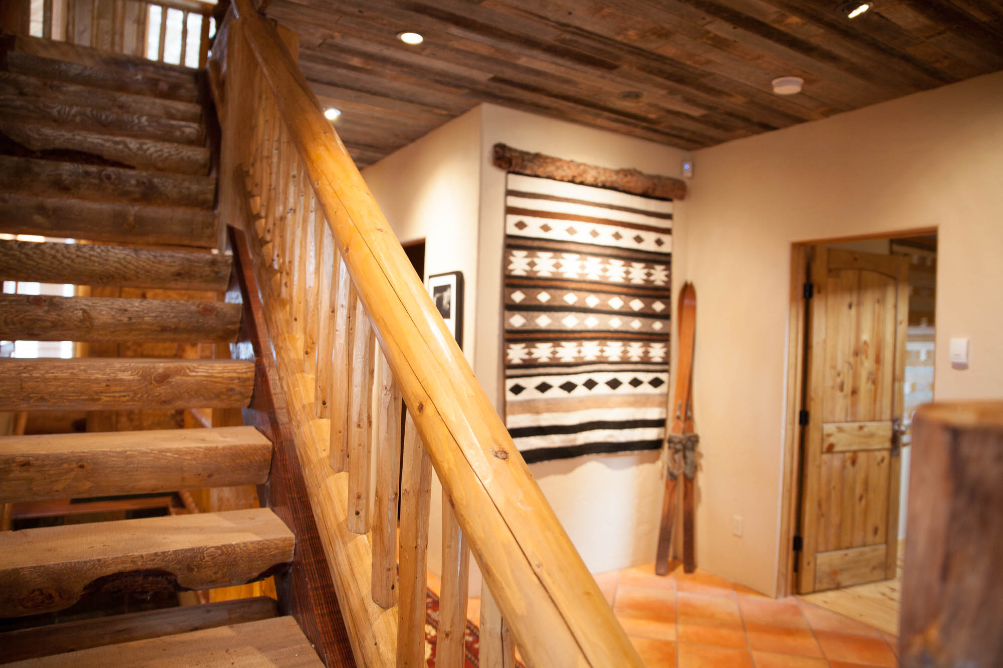 log home decor and custom steps