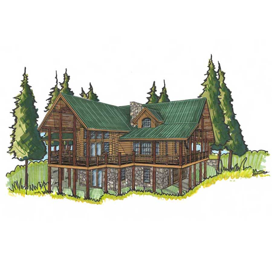 customized log cabin designs colorado