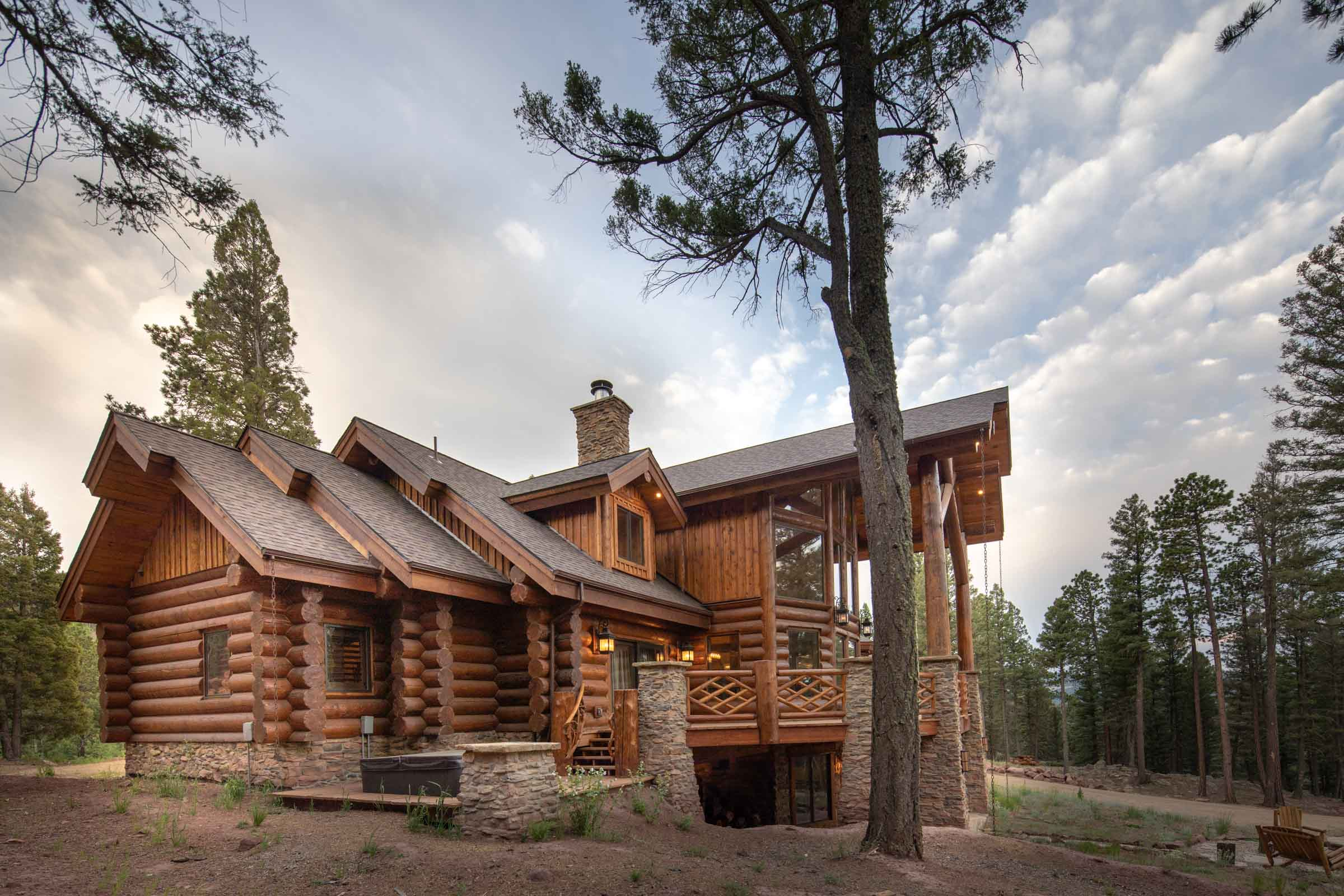 Luxury log cabin angel fire new mexico-11