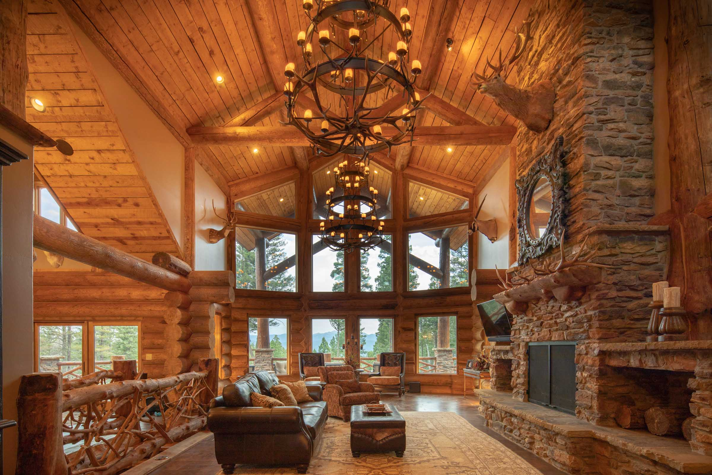 Luxury log cabin angel fire new mexico-12