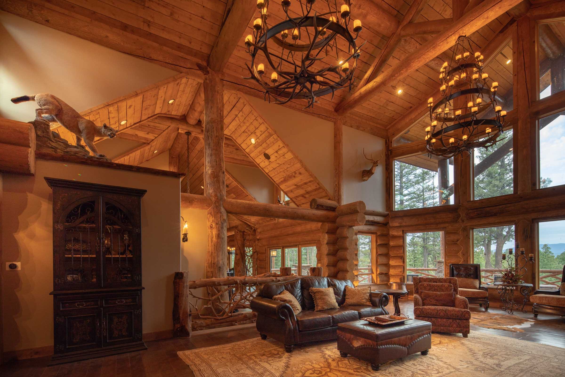 Luxury log cabin angel fire new mexico-13