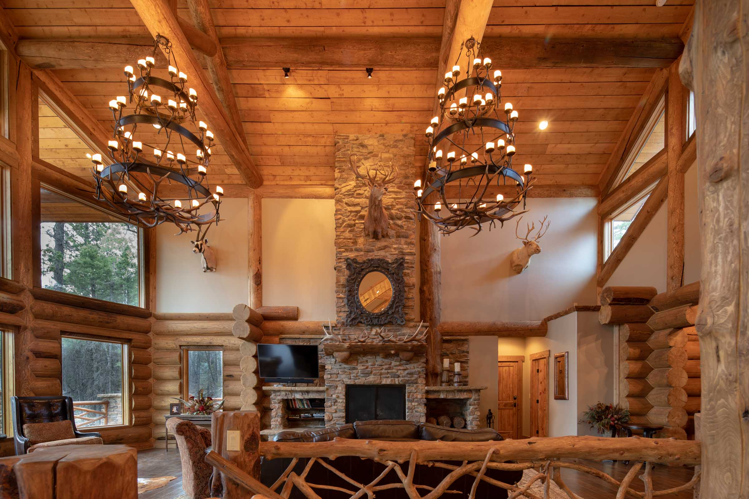 Luxury log cabin angel fire new mexico-14