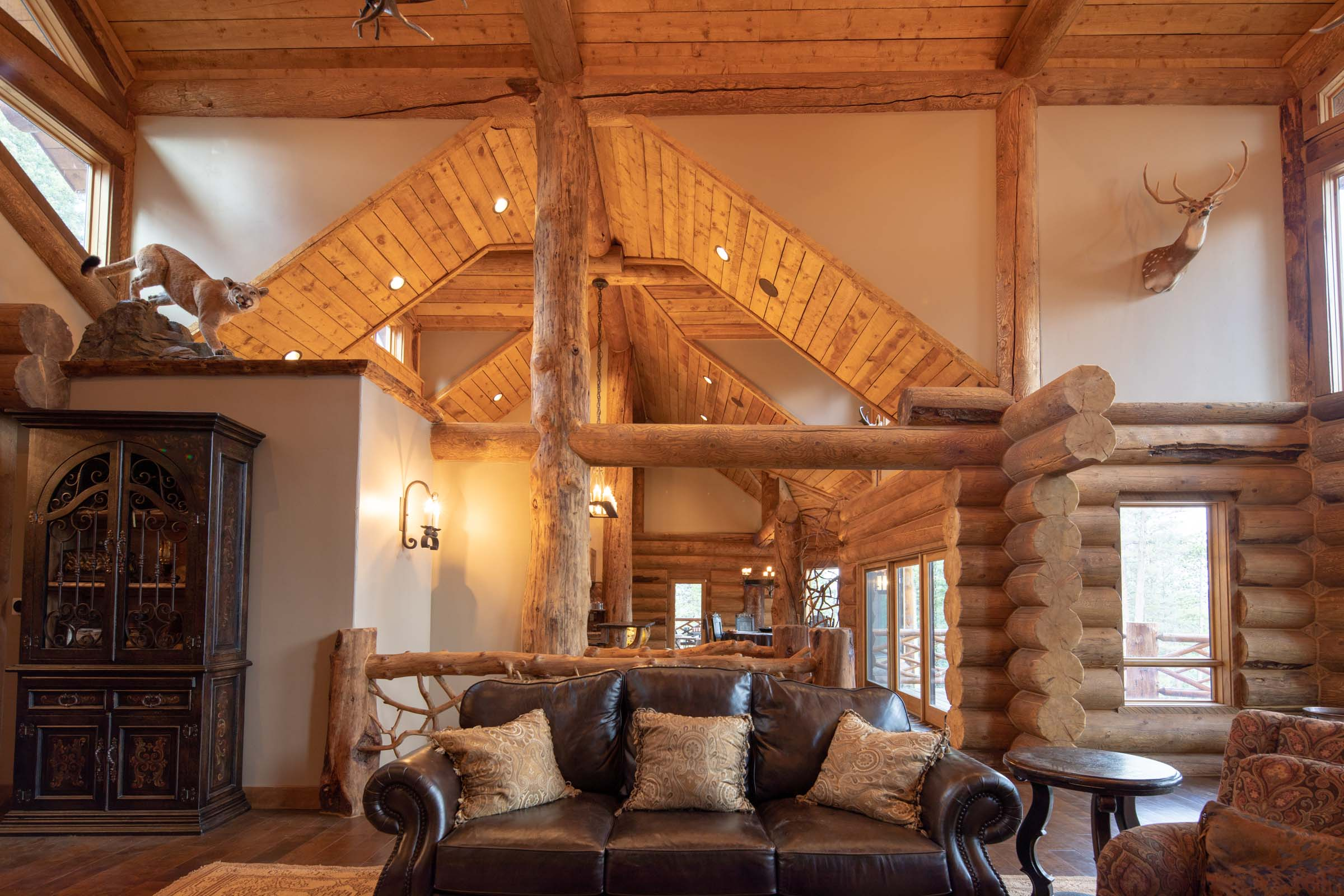 Luxury log cabin angel fire new mexico-16