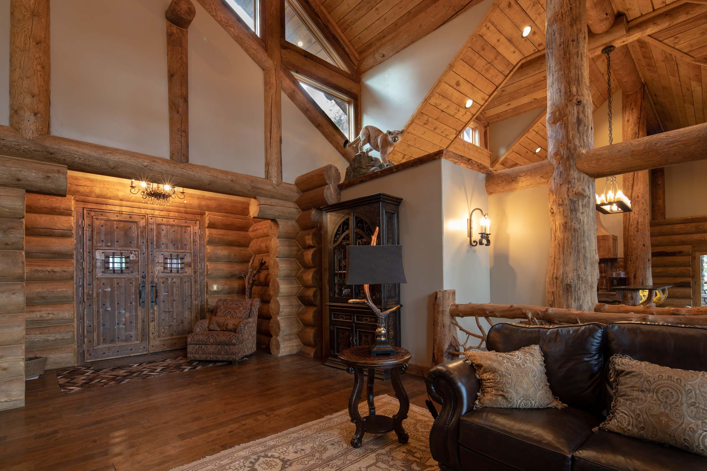 Luxury log cabin angel fire new mexico-17