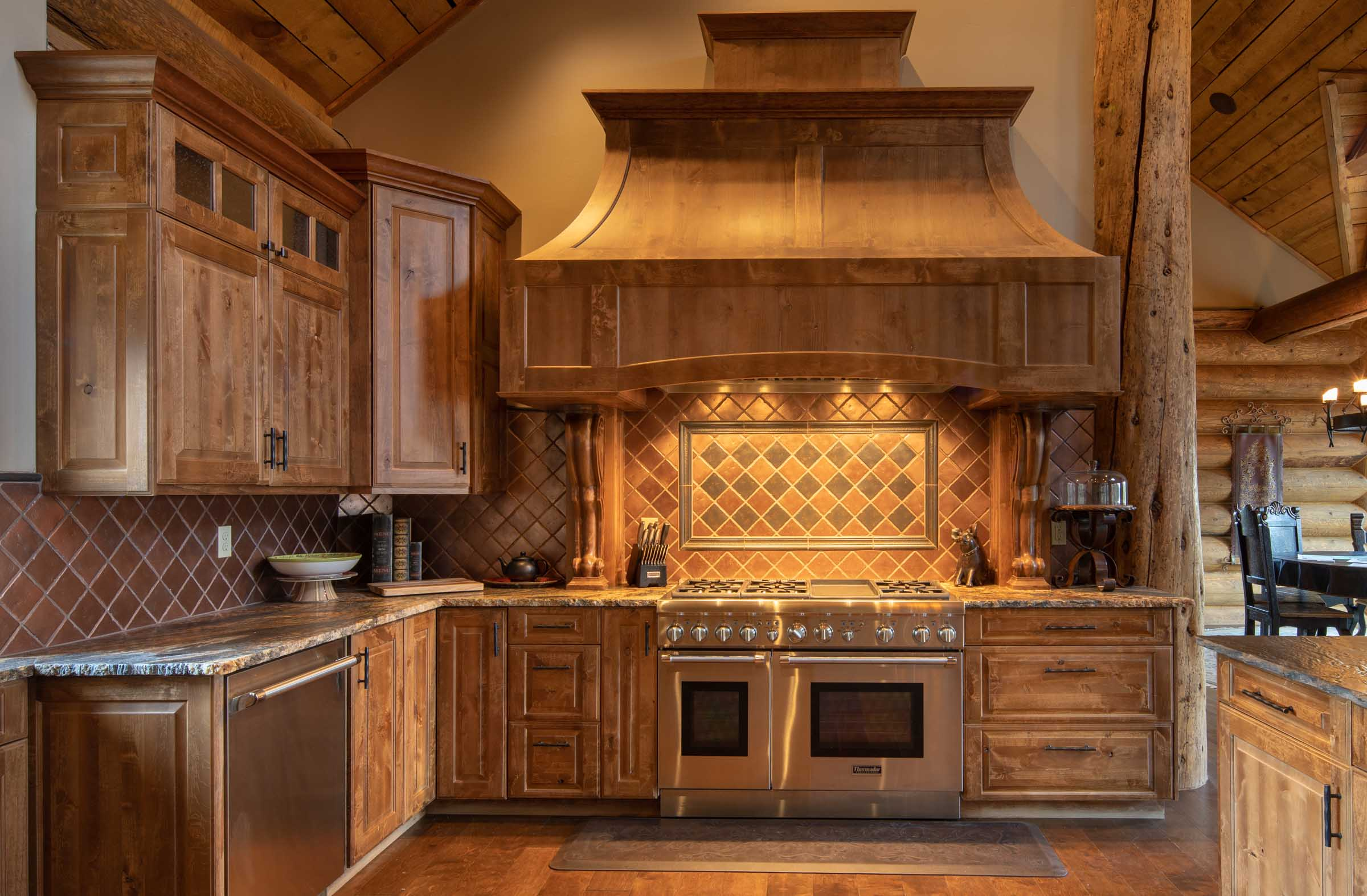 Luxury log cabin angel fire new mexico-20