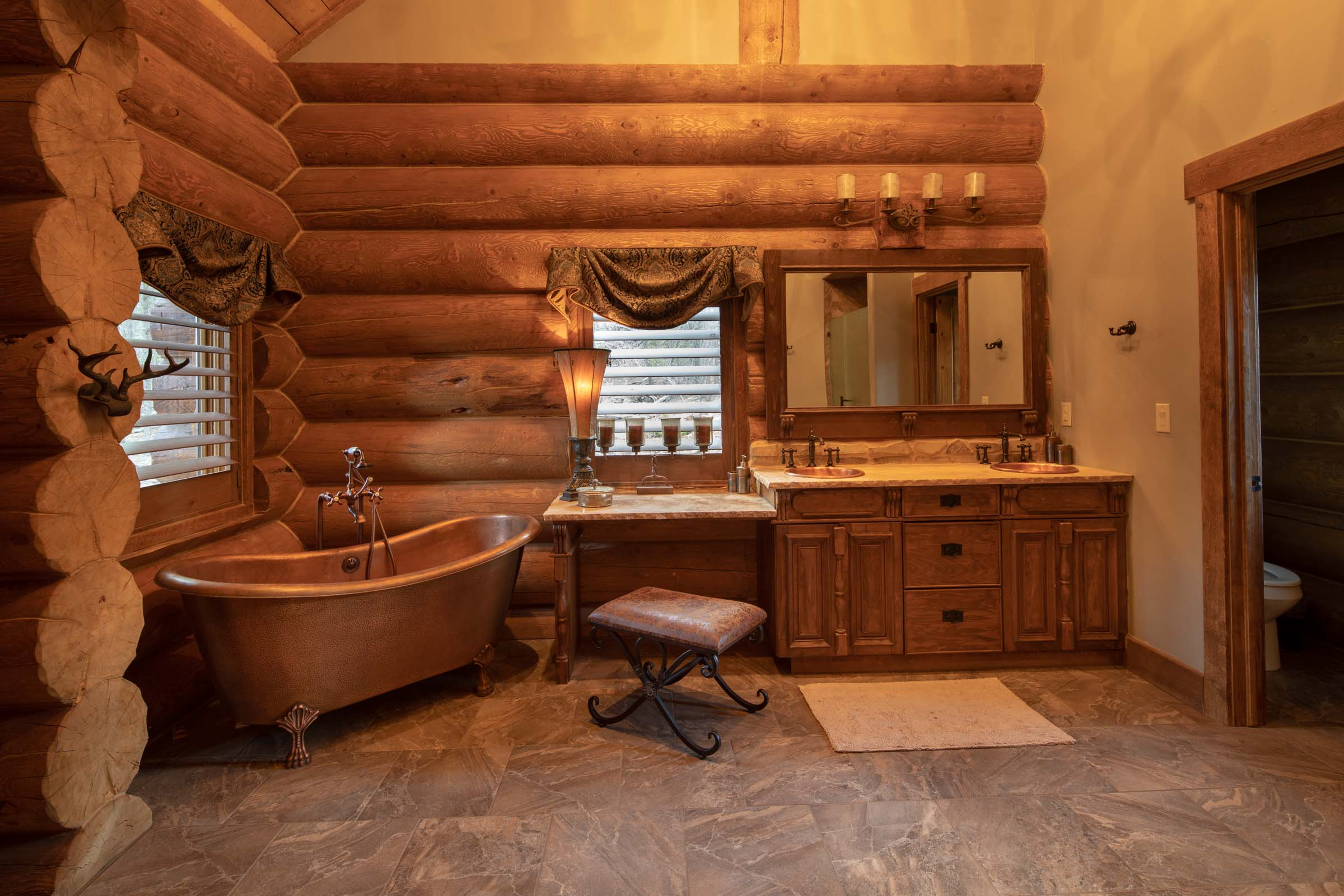 Luxury log cabin angel fire new mexico-21