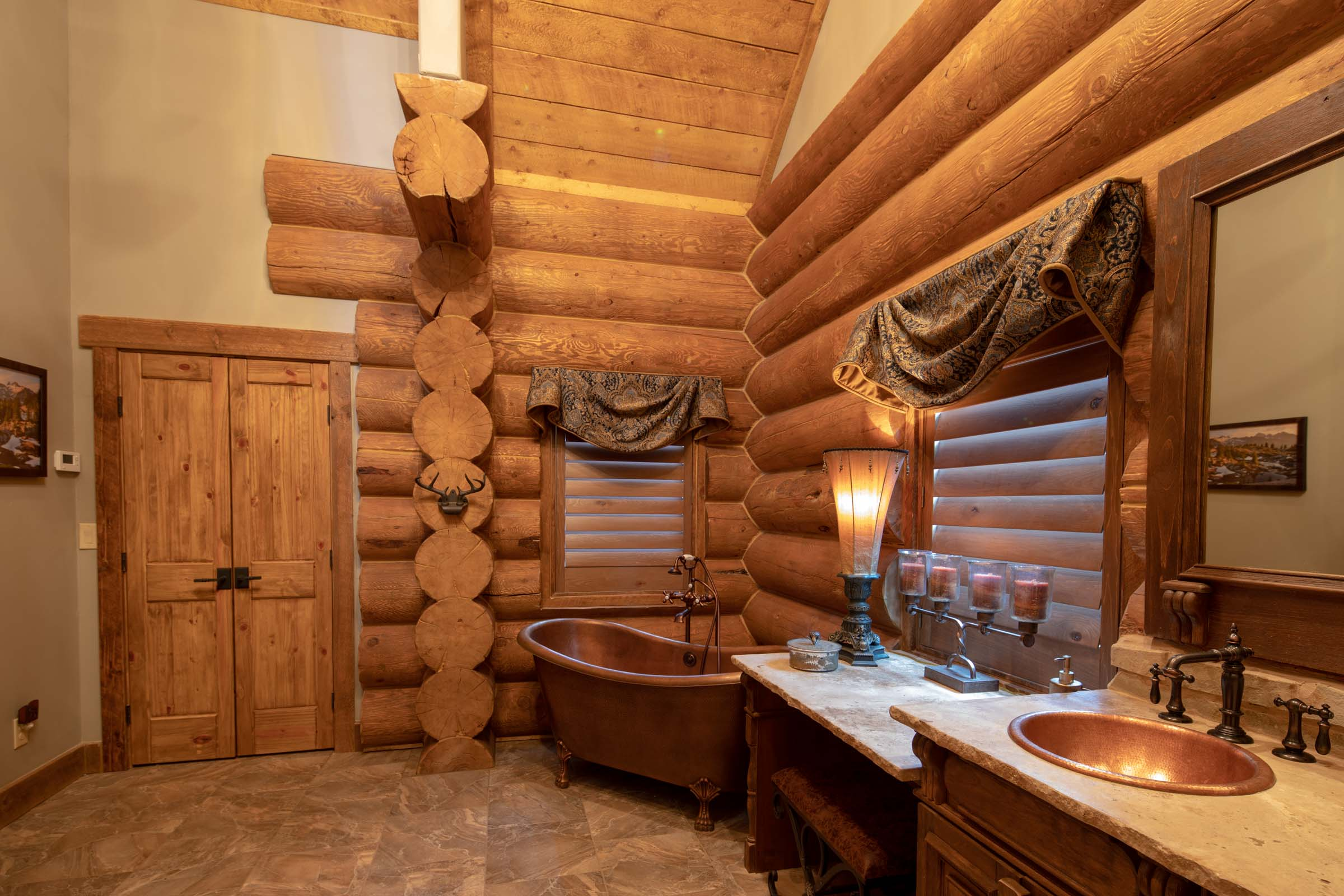 Luxury log cabin angel fire new mexico-24
