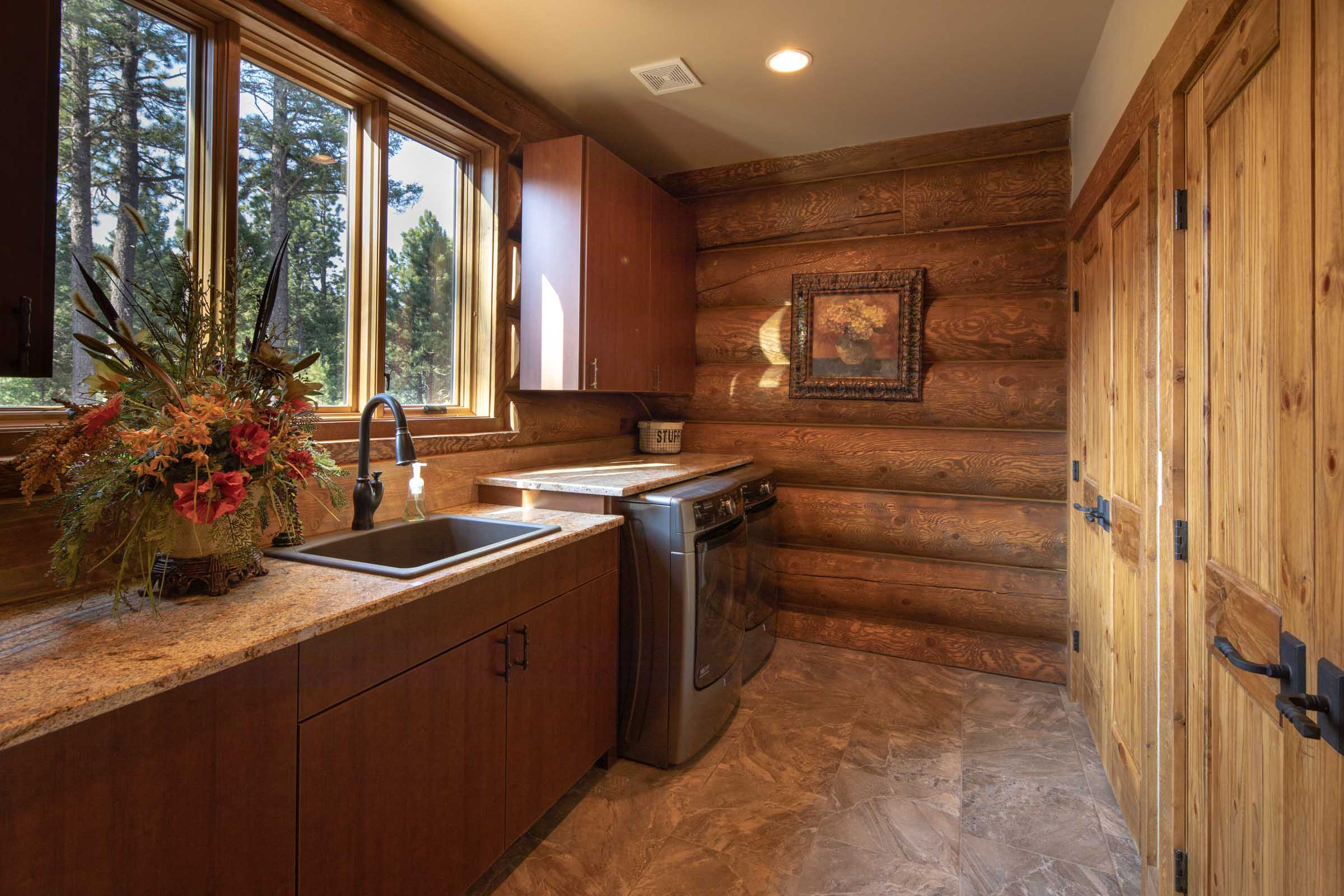 Luxury log cabin angel fire new mexico-26