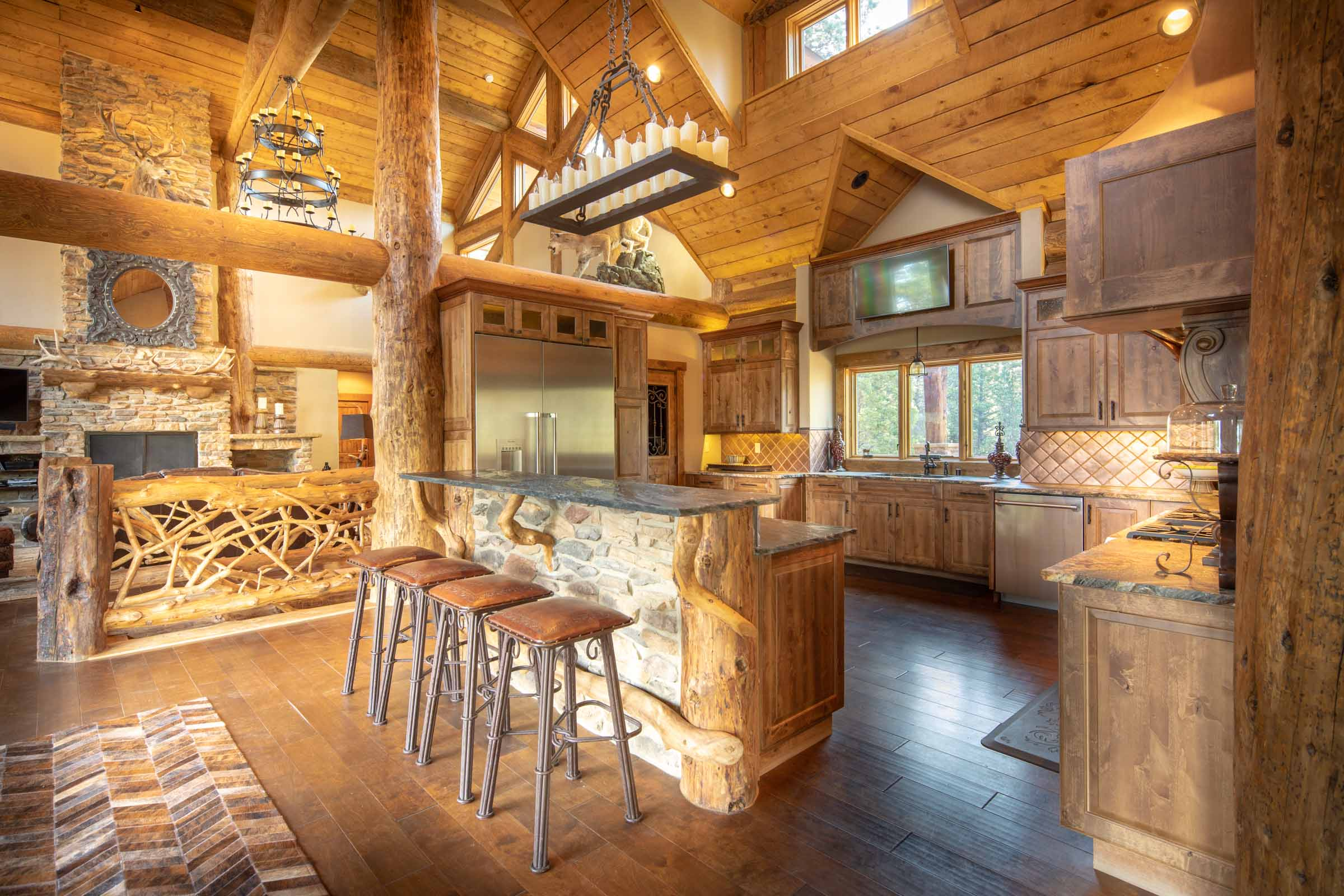 Luxury log cabin angel fire new mexico-29