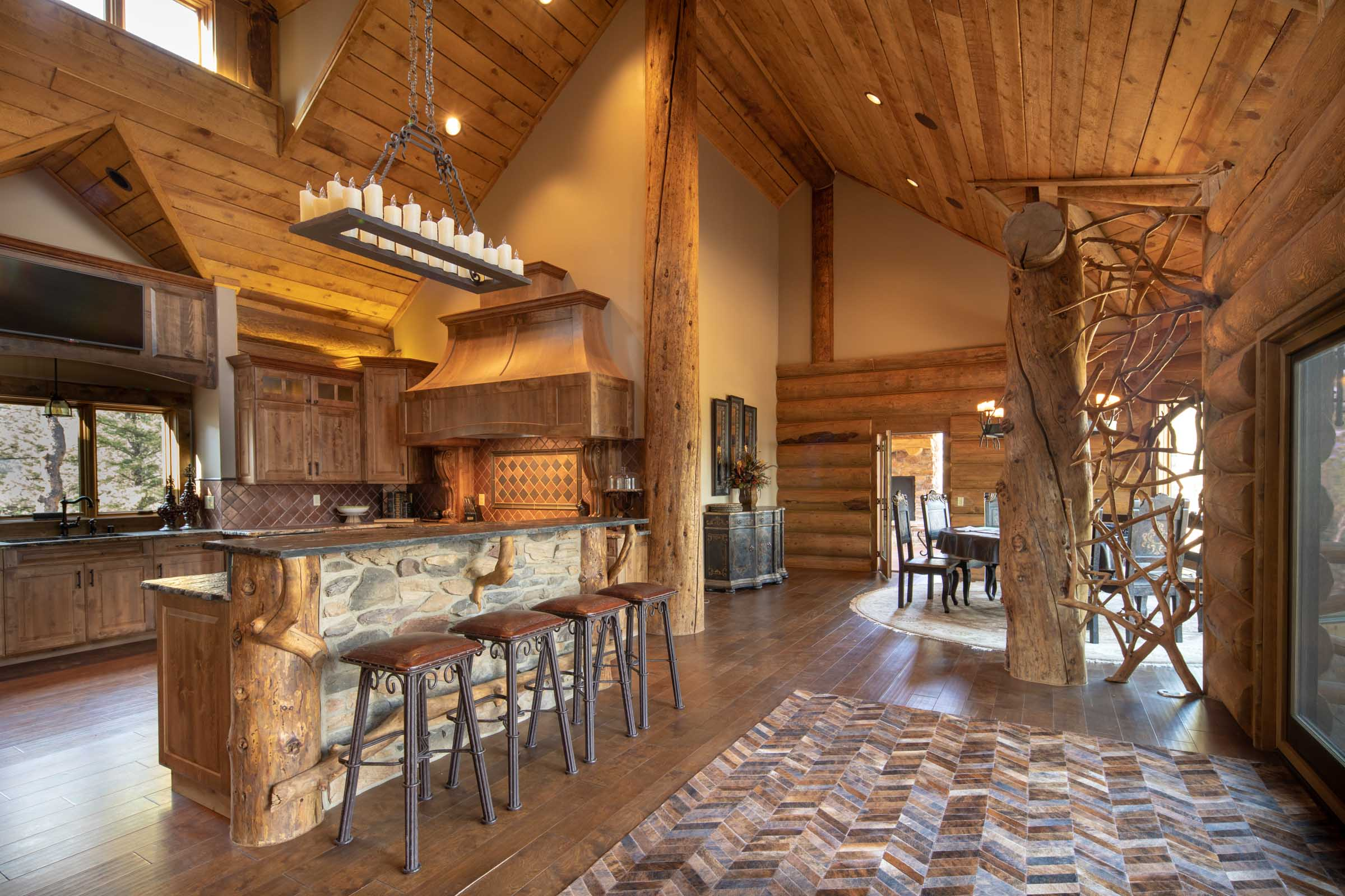 Luxury log cabin angel fire new mexico-30