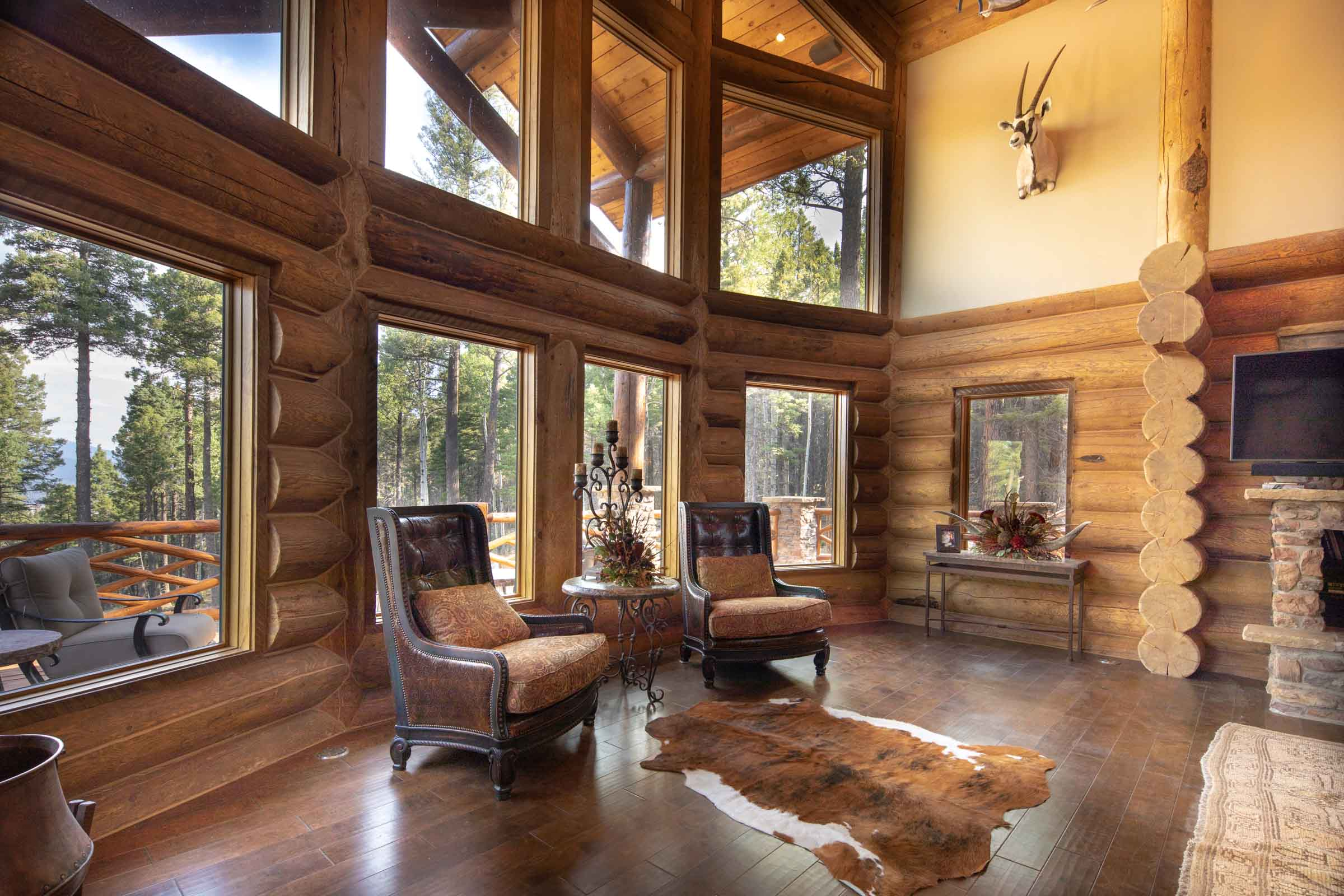 Luxury log cabin angel fire new mexico-31