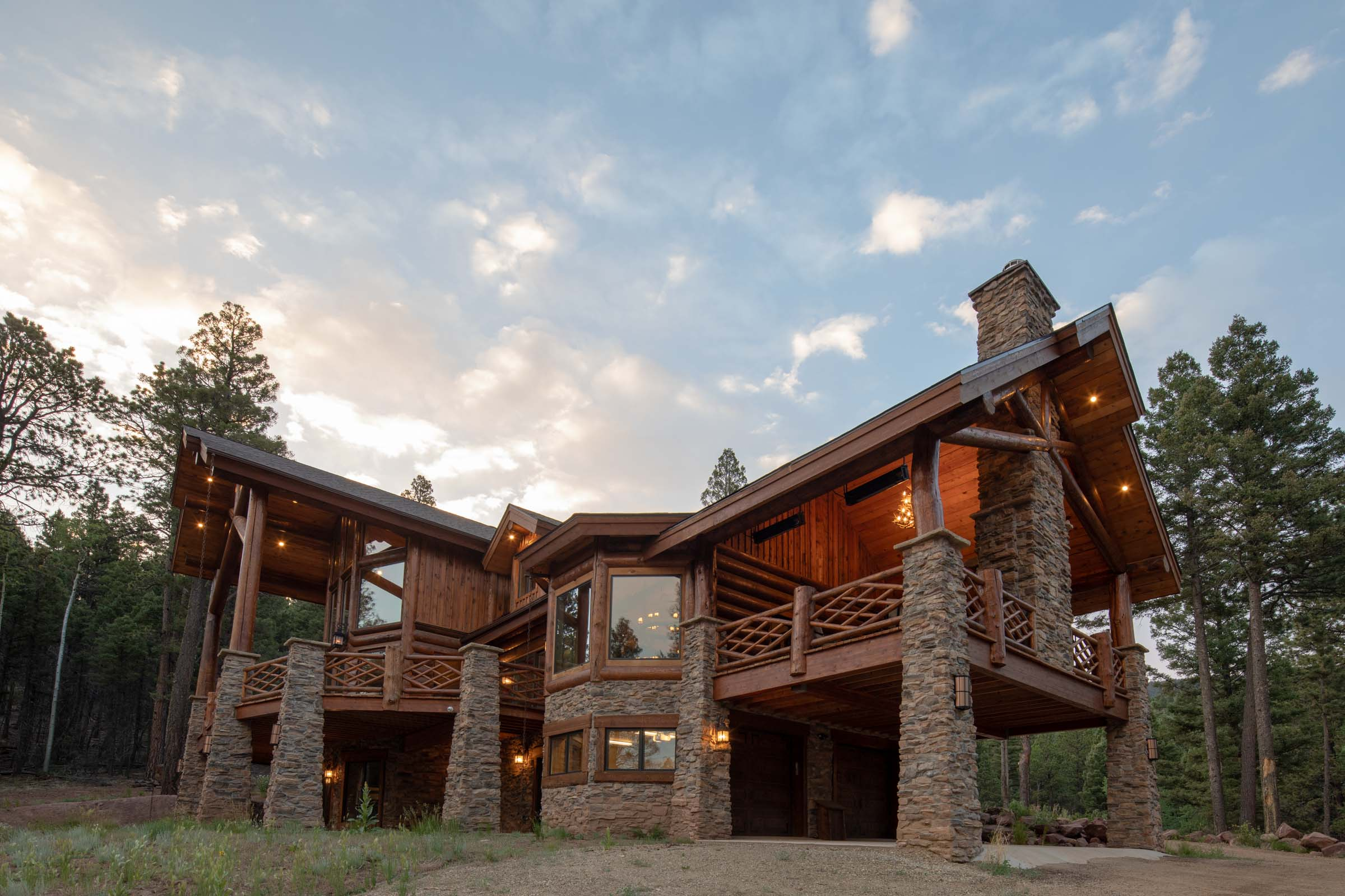 Luxury log cabin angel fire new mexico