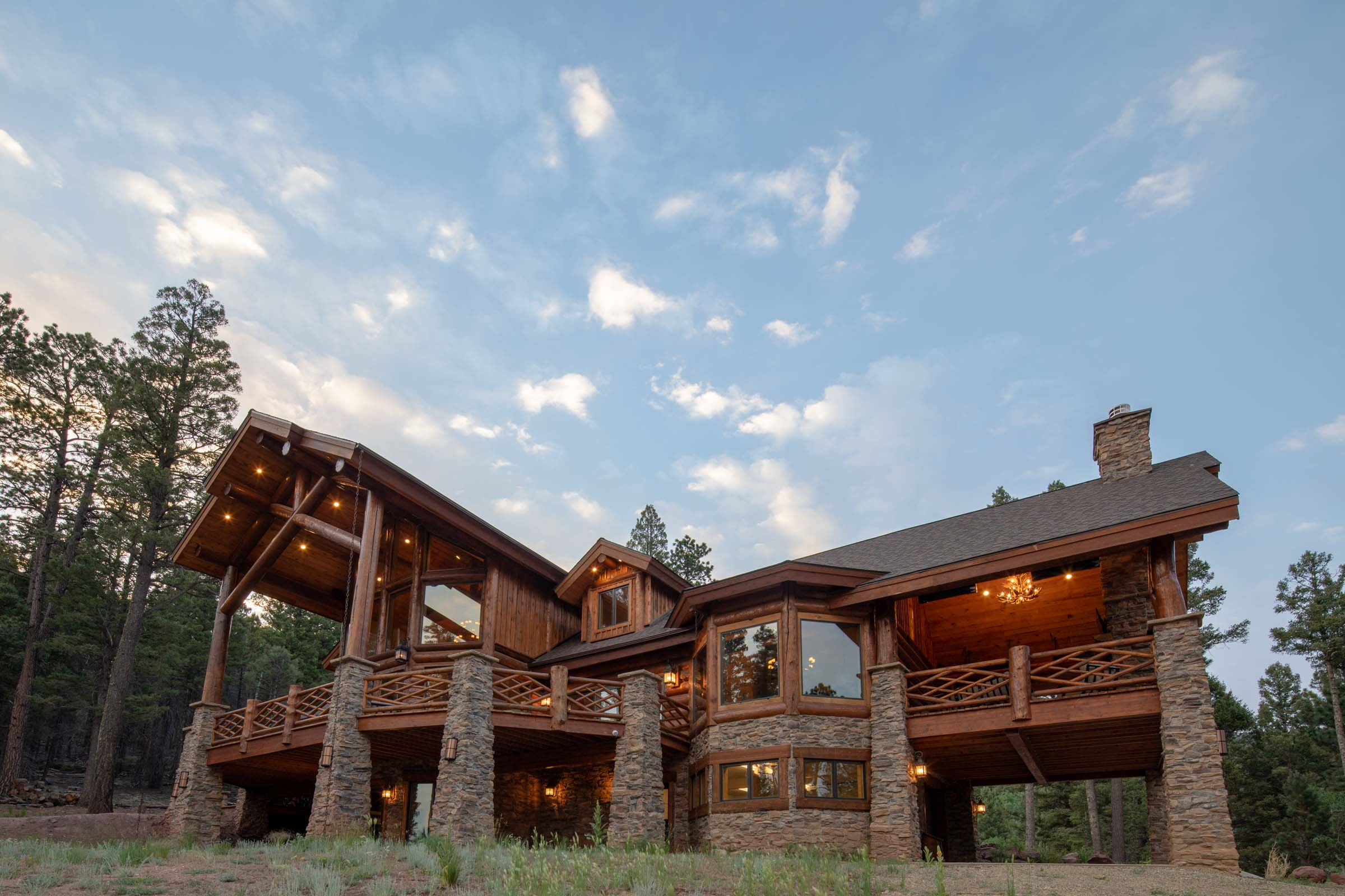 Luxury log cabin angel fire new mexico-6