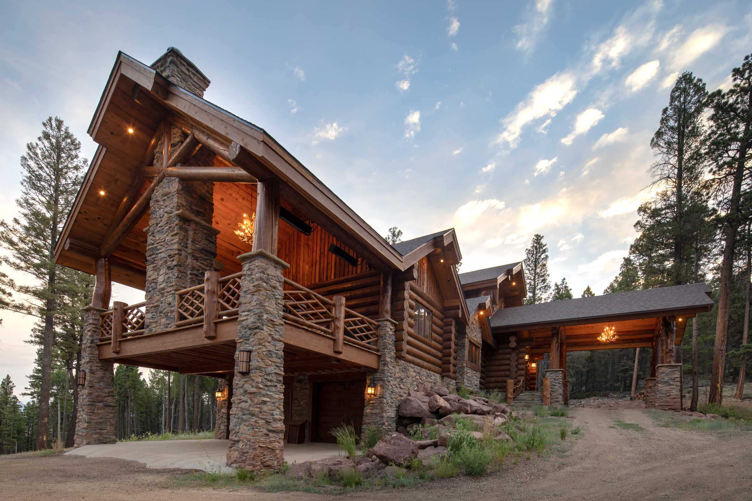 Luxury log cabin angel fire new mexico-7