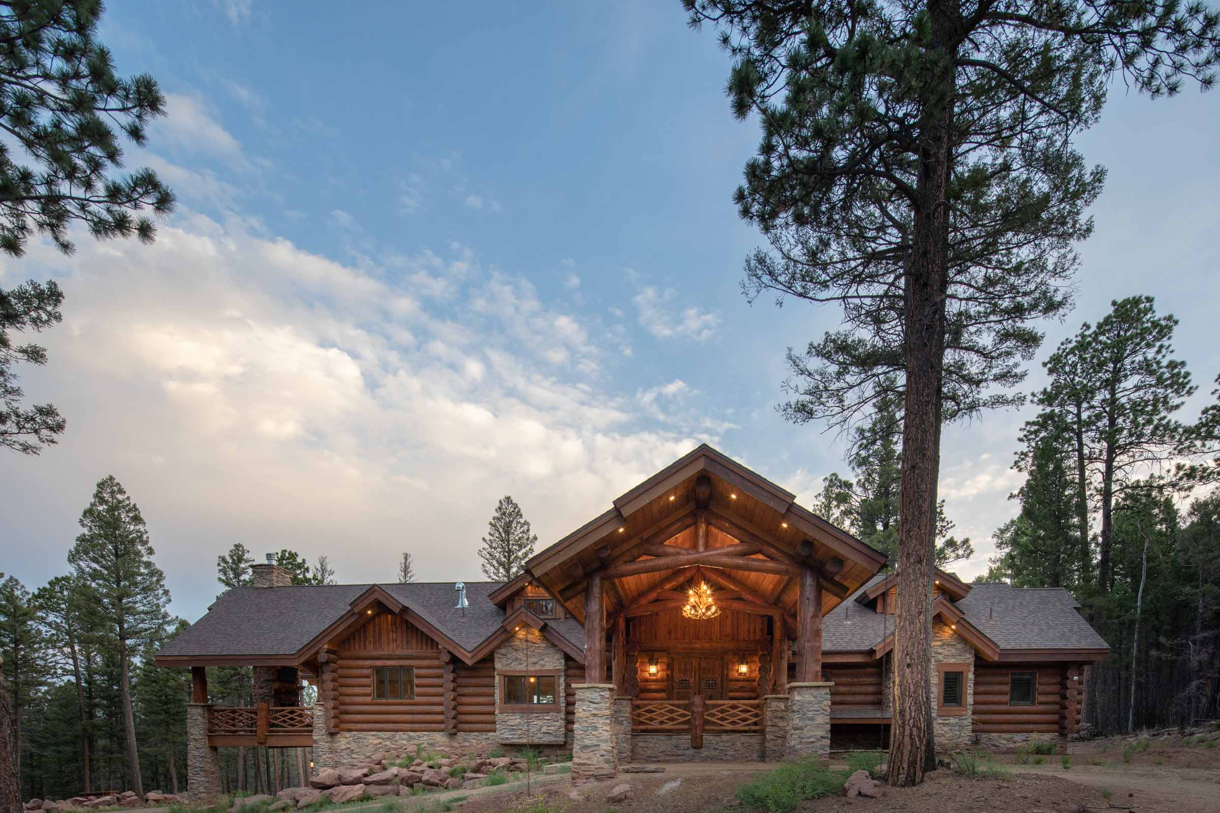 Luxury log cabin angel fire new mexico-8
